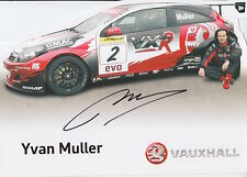 Yvan Muller Hand Signed VX Racing Promo Card Touring Cars 3.