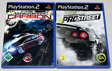 2 PS2 SPIELE BUNDLE - NEED FOR SPEED - CARBON & PRO STREET - PLAYSTATION