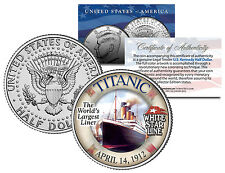 1912 TITANIC * Worlds Largest Ship * U.S. MINT KENNEDY HALF DOLLAR COIN with COA