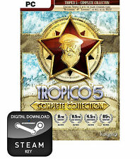 TROPICO 5 COMPLETE COLLECTION PC, MAC AND LINUX STEAM KEY