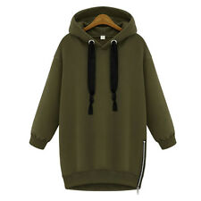 New Women Casual Oversized Hoodies Long Sweatshirt Hoody Zip Jacket Coat Sweater