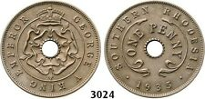 PegasusAuctions_com: 3024. Southern Rhodesia, George V, Penny 1935, RARE