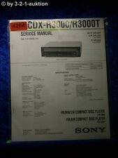 Sony Service Manual CDX R3000 /R3000T CD Player (#4264)