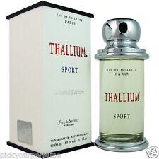 THALLIUM SPORT * YVES DE SISTELLE * Cologne for Men * 3.3 / 3.4 oz * New In Box