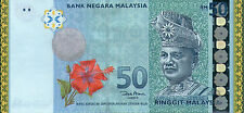 (hs) Malaysia RM50 Commemorative Banknote with Folder unc 2007 RARE