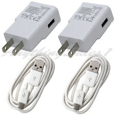 2x Fast Wall Charger + 2 Micro Cables for Samsung Galaxy S6 S7 Edge Note 4 5 LG