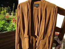 CAROLL veste daim Chèvre velours neuve camel caramel 36 étiquette petit 38