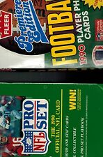 2 BOX LOT1990 PRO SET FLEER SERIES 1 UNOPENED 36 PACKS FOOTBALL CARDS  FROM CASE