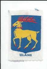 Öland Oland Province Sweden Old Woven Travel Patch Golden Deer with Red Collar