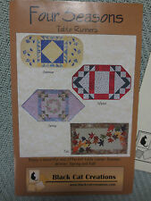FOUR SEASONS Parchwork & Applique Table Runners PATTERNS by BLACK CAT CREATIONS