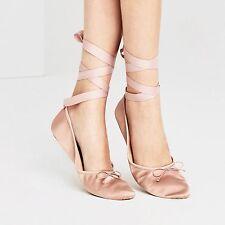 Zara Nude Pink Sateen Ballet Flats Indoor Shoes BNWT Size 6 Euro 39