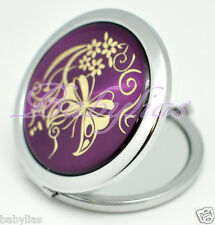 Compact Mirror Butterfly Wedding Bridal Shower Favors Party Purse Gift Purple