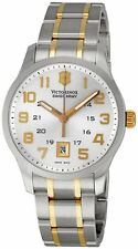 New Mens Victorinox Swiss Army 241324 Classic Alliance Swiss Made 2tone Watch