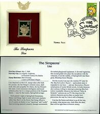 The Simpsons Cover Postal Commemorative Society Proof Replica Stamp 22k Gold  5
