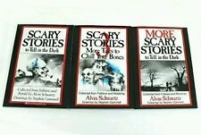 3 Book Set: SCARY STORIES to Tell in the Dark 1, 2 & 3 by Alvin Schwartz NEW!!!