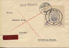 Lokalausgabe Bad Nauheim 6 I auf Eil-Brief nach Friedberg/Hessen (B05858)