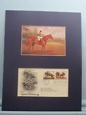 "Horse Racing Great - ""Man O' War"" & First day Cover for Thoroughbred Race Horses"