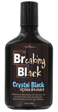 Hoss Sauce Breaking Black CRYSTAL BLACK Tanning Lotion with 656xxx Bronzers. NEW