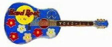 Hard Rock Cafe YOKOHAMA 2000 ACOUSTIC GUITAR PIN Flowers & Peace - HRC #10498