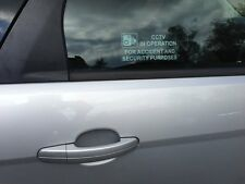 CCTV IN OPERATION FOR ACCIDENT & SECURITY PURPOSES WINDOW STICKER CAR VAN CAMPER