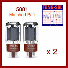 Tung-Sol 5881 New Production Power Vacuum Tube - Matched Pair - 2 Pieces