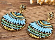 Bohemia Rhinestone New Fashion Ear Elegant Dangle Jewelry Women Stud Earrings