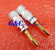 2pcs Nakamichi Banana Speaker Plug Audio Cable Connector