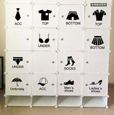PVC DIY Wardrobe Clothes Shoes cabinet Wall Sticker Decor Clothing Store Decals