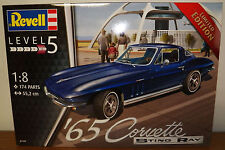 Revell Germany 1965 Corvette Stingray C2 Limited Edition Plastic Model Kit 1/8