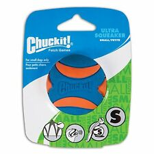 PetMate Canine Hardware Chuckit Ultra Squeaker Ball Natural Rubber Dog Toy Small