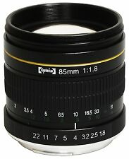 Opteka 85mm f/1.8 Manual Focus Aspherical Medium Telephoto Lens for Canon EOS EF