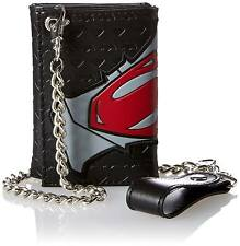 DC Comics Batman vs. Superman Logo Trifold Chain Wallet