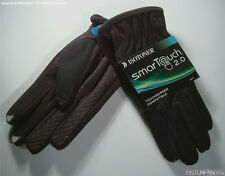 Isotoner Mens Smartouch Touchscreen Texting Wool Gloves Black XL NWT