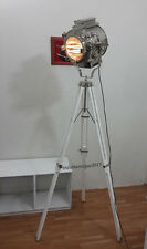 Vintage THEATER Search light Spot Lights Floor Lamp wooden tripod Retro Gift