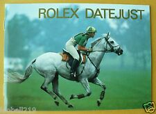ROLEX DATEJUST MANUAL INSTRUCTIONS BOOKLET 1998 SHIPING WORLDWIDE!