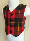 New Baby Tartan / Black / Musical Notes Waistcoats (0-3 months- 4 years)