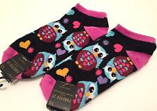 Forever 21 Socks Owl Print One Size Casual 2 PAIRS Women's Cute New