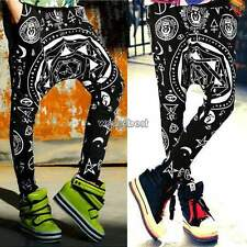 Womens Baggy Trousers Plus Size Harajuku Style Hip-Hop Trendy Slacks Harem Pants