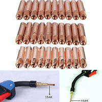 10Pcs MB-15AK MIG/MAG M6 Welding Weld Torch Contact Tips Holder Gas Nozzle Gold
