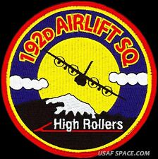 """USAF 192nd AIRLIFT SQUADRON – HIGH ROLLERS - ORIGINAL 4.5"""" DEPLOYED PATCH"""