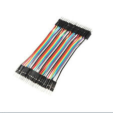 40pcs Dupont 10CM Male To Male Jumper Wire Ribbon Cable Breadboard For Arduino #