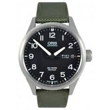 NEW ORIS 75276984164 BIG CROWN ProPilot DAY DATE 752 7698 4164 OLIVE Textile