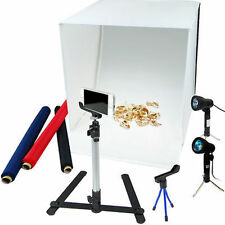 Photo Studio Photography Light Tent Kit 4 Colors Backdrop Cube In A Box Kit New