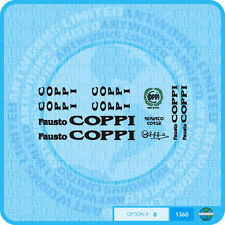 Fausto Coppi Bicycle Decals Transfers Stickers - Set 8