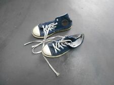 CONVERSE VELOURS BLEU MARINE NAVY T 34 COLLECTOR A 12€ ACHAT IMM FP RED MOND REL