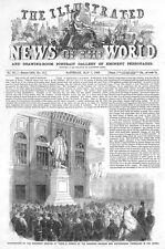 ITALIA monumento a Torino per soldati della guerra di Crimea-stampa antica 1859