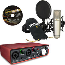 RODE NT1-A Microphone with Focusrite Scarlett 2i2 - USB Audio Interface