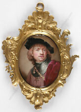 "Henry Bone (1755-1834)-Attrib. ""Rembrandt's self-portrait of 1634"", miniature"