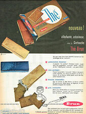 PUBLICITE ADVERTISING 075  1957  BRUN   les biscuits  en cartouche THE 2