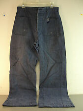 GENUINE WW2 US NAVY BLUE DENIM PANTS DUNGAREE TROUSERS WWII 30x28.5 VINTAGE
